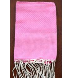 Serviette de plage bébé : unie rose