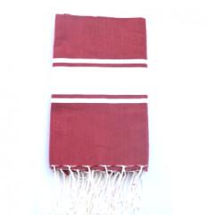 Asciugamani da bagno : rosso e bianco
