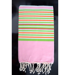Fouta blue striped ziwane