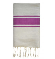 Fouta white & purple