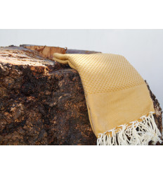 Hammam bath towels mustard