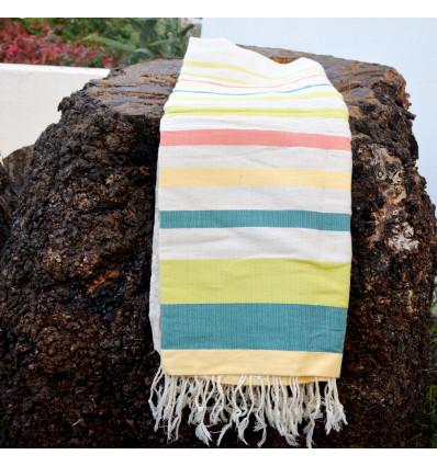 Plaid coton pour canap tricolore for Plaid coton pour canape