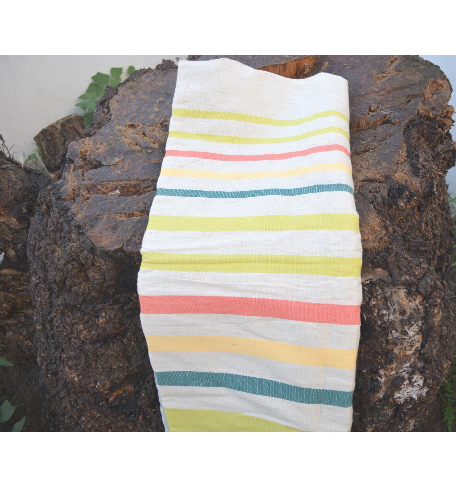 plaid coton pour canap tricolore. Black Bedroom Furniture Sets. Home Design Ideas