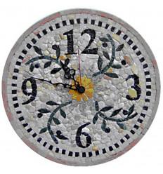 Horloge murale en mosaïque ronde