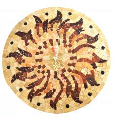 Horloge murale en mosaïque : D 35 cm