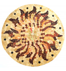 Mosaic wall clock: D 35 cm