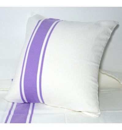 housse de coussin 40x40 fouta violet lartisanet. Black Bedroom Furniture Sets. Home Design Ideas