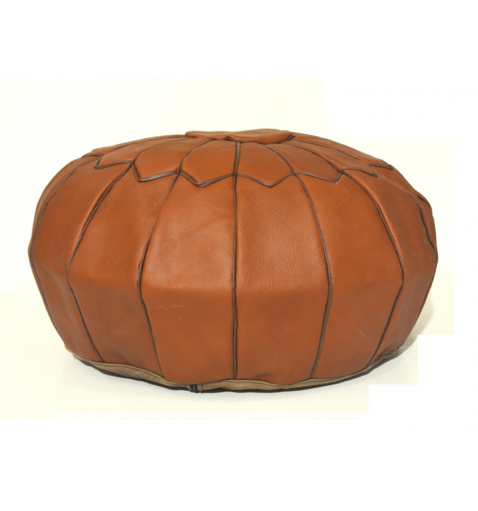 design pouf pouf marocain en cuir marron lartisanet. Black Bedroom Furniture Sets. Home Design Ideas