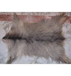 Peau de chèvre gris naturelle