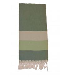 Plaid coton pour canapé : Vert
