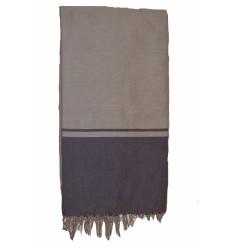Plaid coton pour canapé : gris anthracite