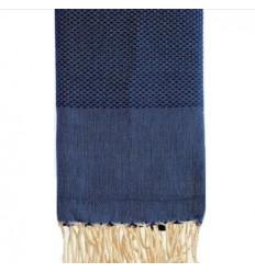 Fouta United honeycomb Blue Jean