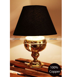 Lampe de table baroque : laiton