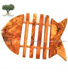 Dessous de plat poisson : Bois d'olivier