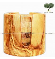 Conjunto de madera de olivo 6 copas