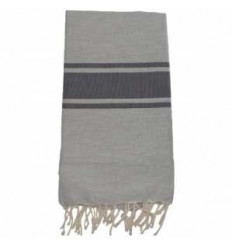 Fouta plate gris anthracite