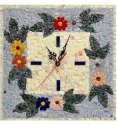 Horloge murale en mosaïque