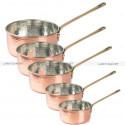 CASSEROLE En CUIVRE martelé - chaudière en cuivre fait à la main - casserole en cuivre santé