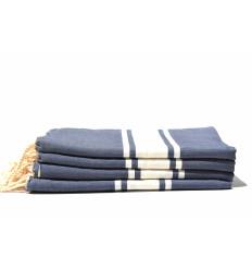 Fouta plate bleu jeans