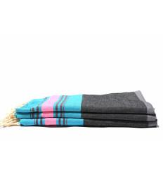 Turkish hammam towel : white & gray