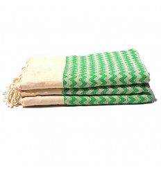 Salviette bagno : strisce verde