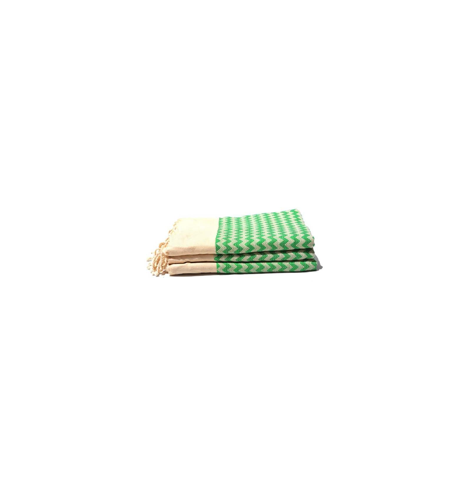 salviette bagno strisce verde