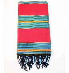 Fouta berbero elettrico rosso blu
