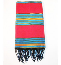 Red electric blue Berber Fouta