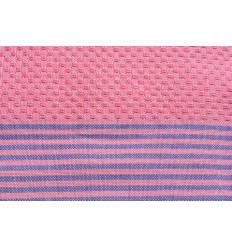 Child Fouta striped honeycomb pink