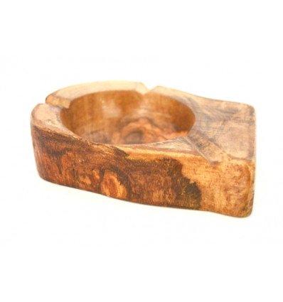 Cenicero en madera de olivo
