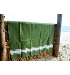 Turkish fouta towel green