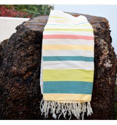 Plaid coton pour canapé : Tricolore