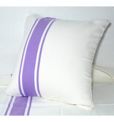 Zippered cushion covers : Towel White & Purple