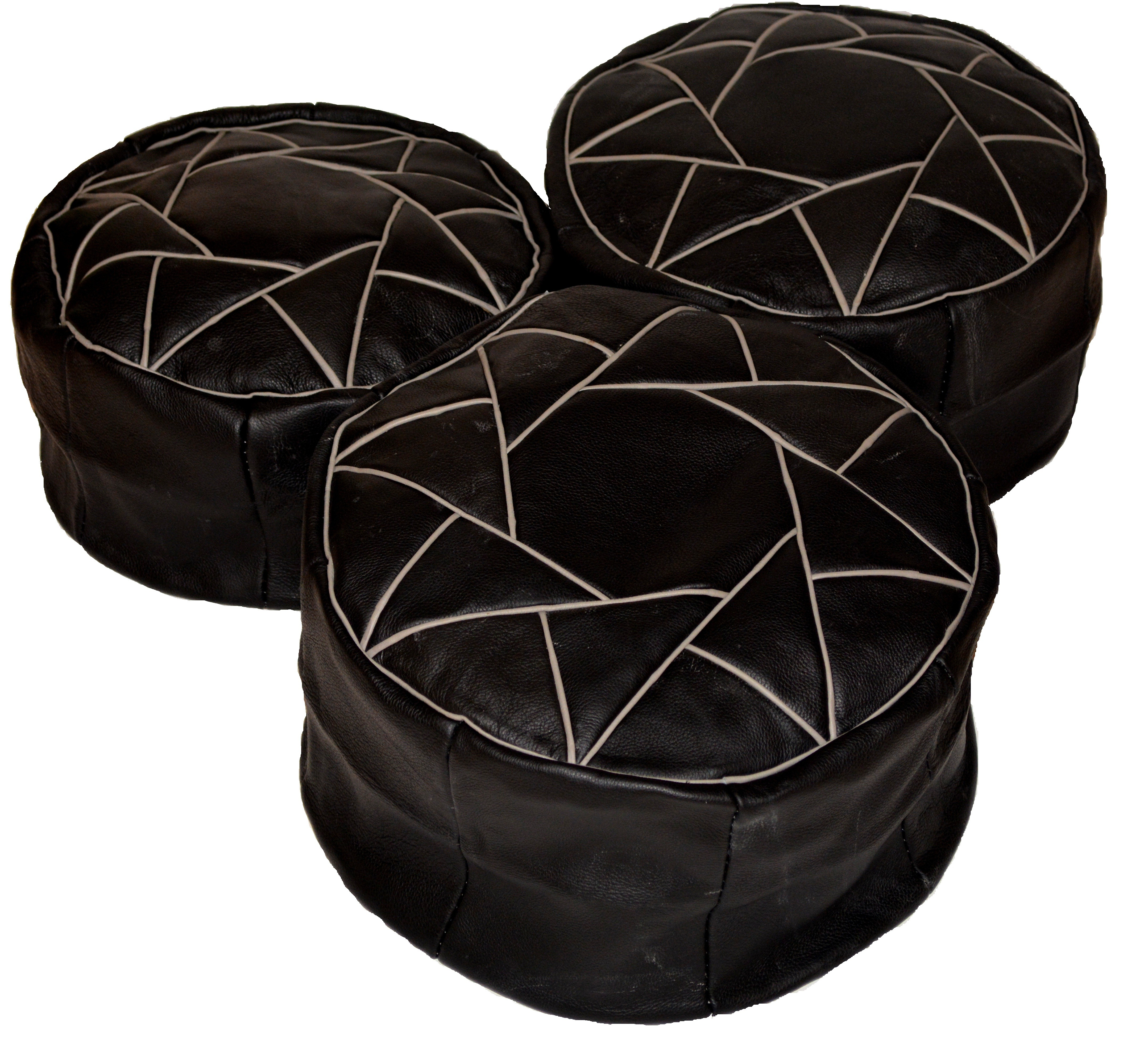 Prime Leather Pouf Round Leather Ottoman Black Inzonedesignstudio Interior Chair Design Inzonedesignstudiocom