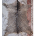 Goat skin rug : natural gray
