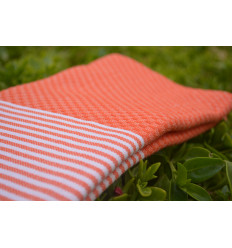 Lot of 3: Fouta child honeycomb : orange