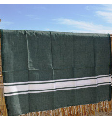 Turkish cotton towel green & white