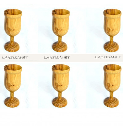 Wooden glass (Lot of 6)