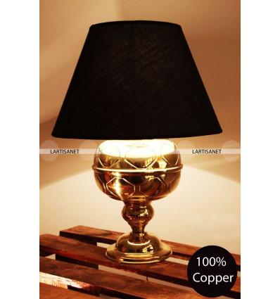 Lampe de table baroque : laiton