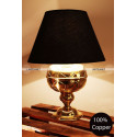 Baroque table lamp: brass