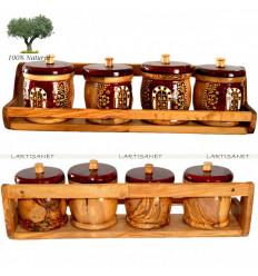 Étagère à épices en Bois d'olivier