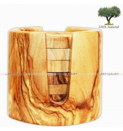 Olive Wood Coaster Set of 6