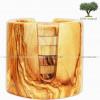 Set de 6 sous verres en bois d'olivier