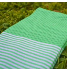 Lot of 3: Fouta beach towel :honeycomb green