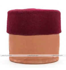 Fez hat wool : Red Dark