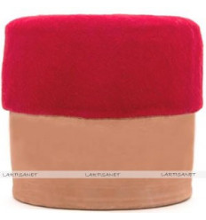Red fez - Chechia - Wool