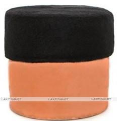 Black fez - Chechia wool - Kufi