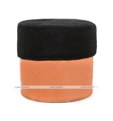 Black fez hat - Chechia wool - Black Tarboosh