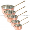 COPPER SAUCEPAN - Hammered copper cookware - copper frypan pan - french saucepan