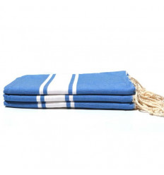 Fouta beach towel blue and white